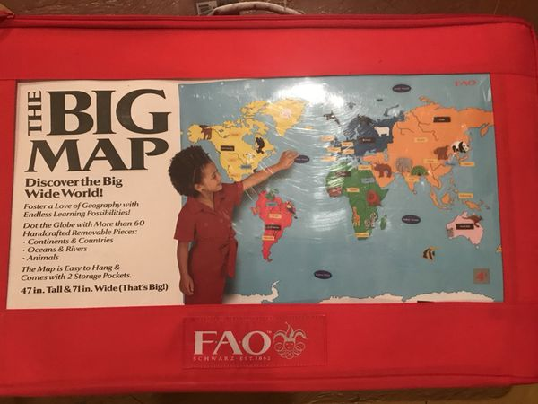 Fao Schwarz World Map.Fao Schwarz World Map Wall Mat Carry Case For Sale In Troy Mi