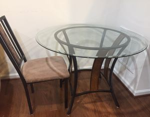 dining table glass with 4 chairs for Sale in Herndon, VA