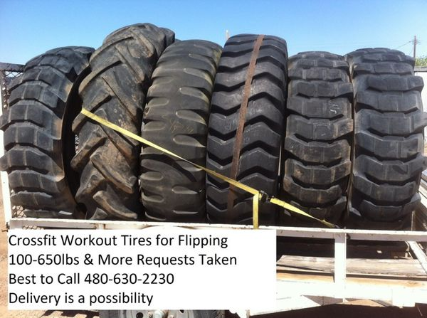 Crossfit Workout Tractor Tires 100 600lbs For Flipping Sledge