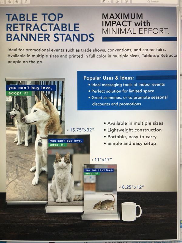 Custom Printed Table Top Retractable Banners for Sale in Boca Raton, FL -  OfferUp