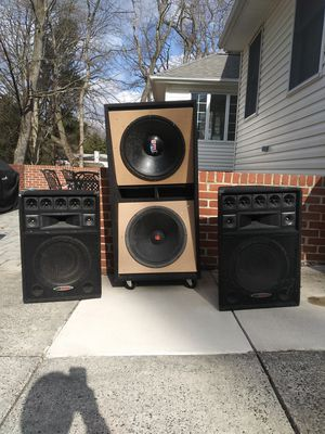 Photo Speakers 18 inch and 15 inch Subwoofers (DJ Equipment)