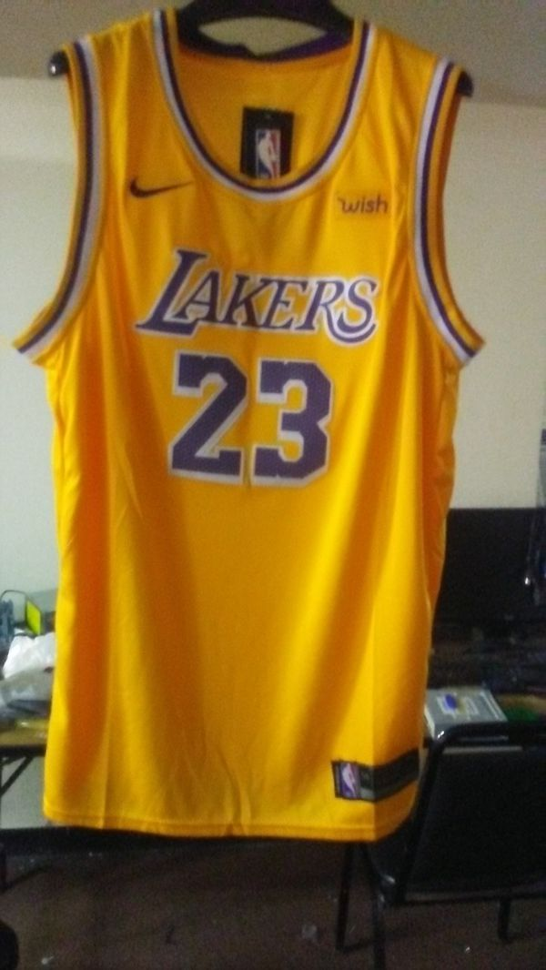 4cb7fdc6b28 Los Angeles Lakers authentic jersey LeBron James fully stitched size ...