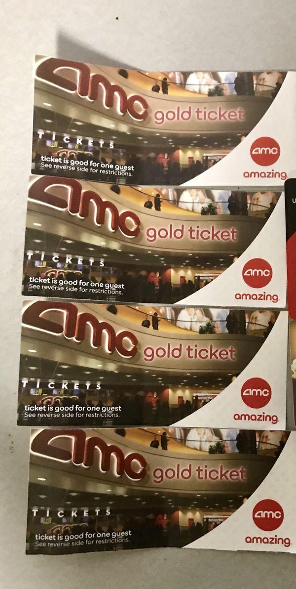 AMC THEATERS 4 GOLD Tickets For Sale In Tonawanda NY