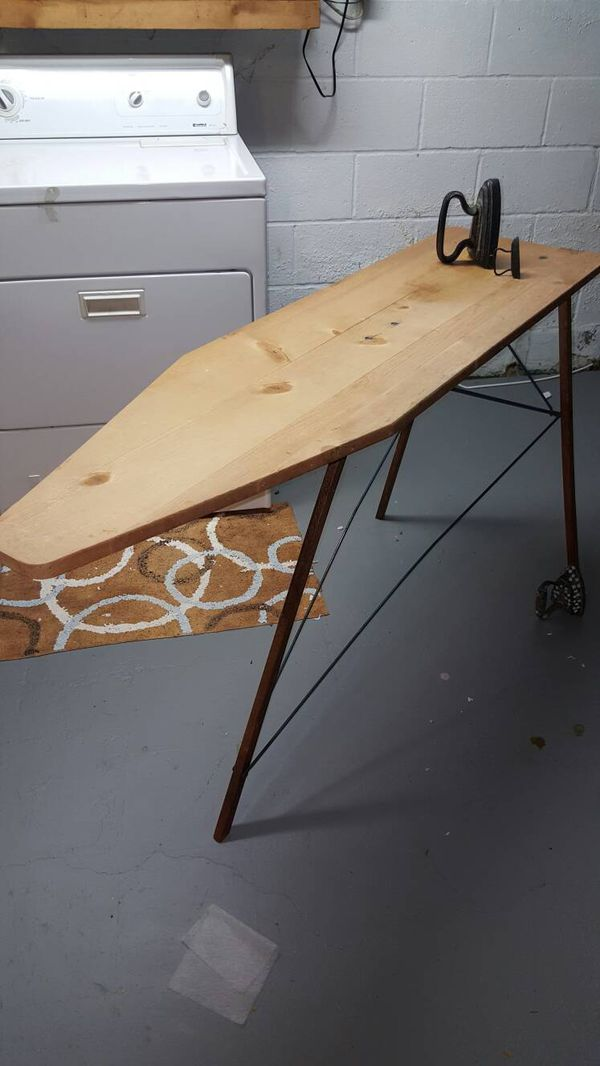 Antique Wood Ironing Board A Senco Ironing Board 1554 Made In Seneca Falls For Sale In Rochester Ny Offerup