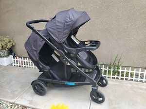 Photo Graco Uno2duo Double Stroller- Black n Grey Color