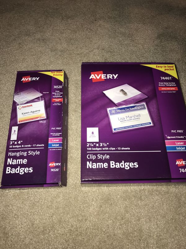 Avery Name Badge For Sale In Fontana Ca Offerup