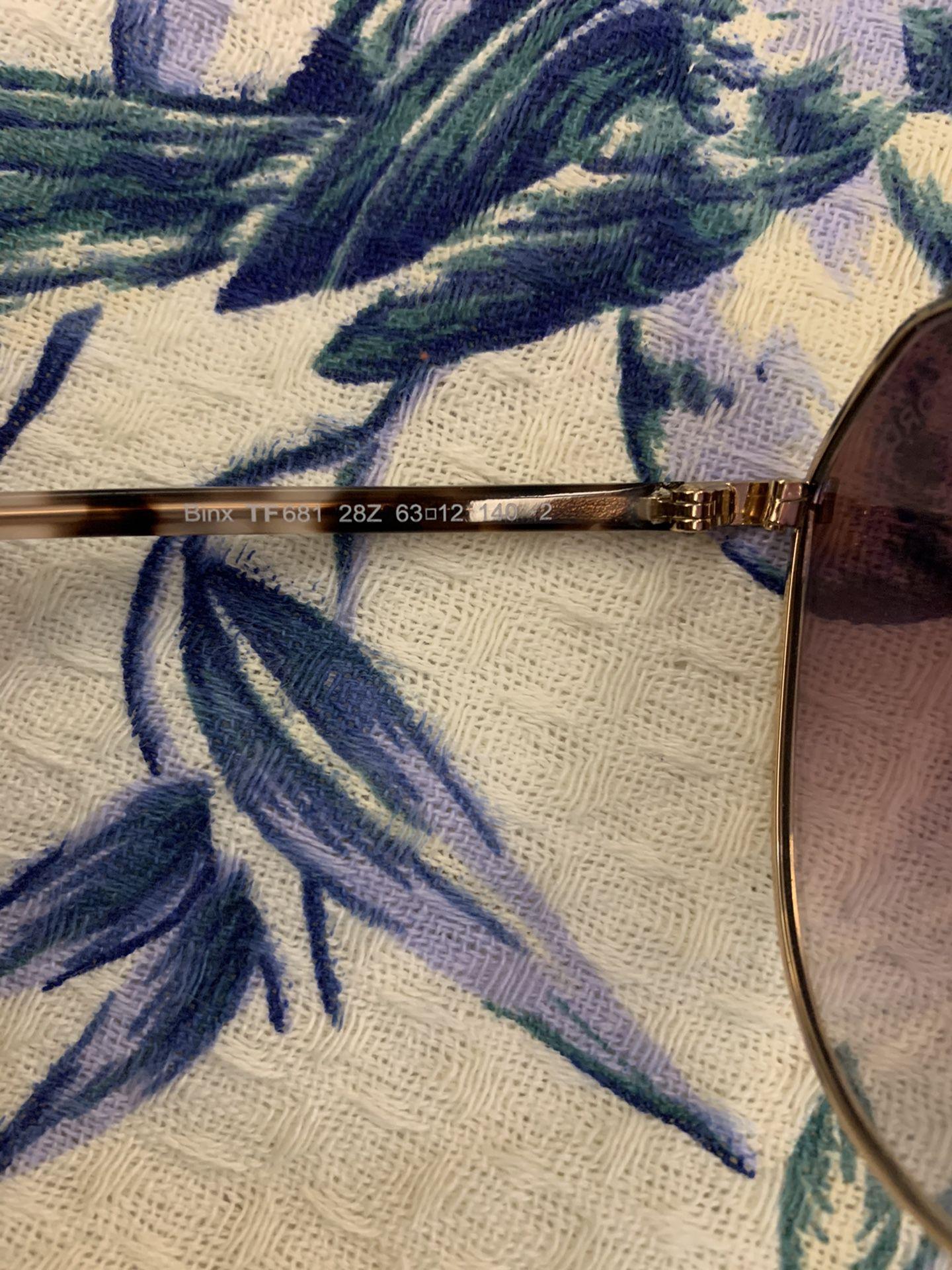 Tom Ford Binx 63mm Aviator Sunglasses