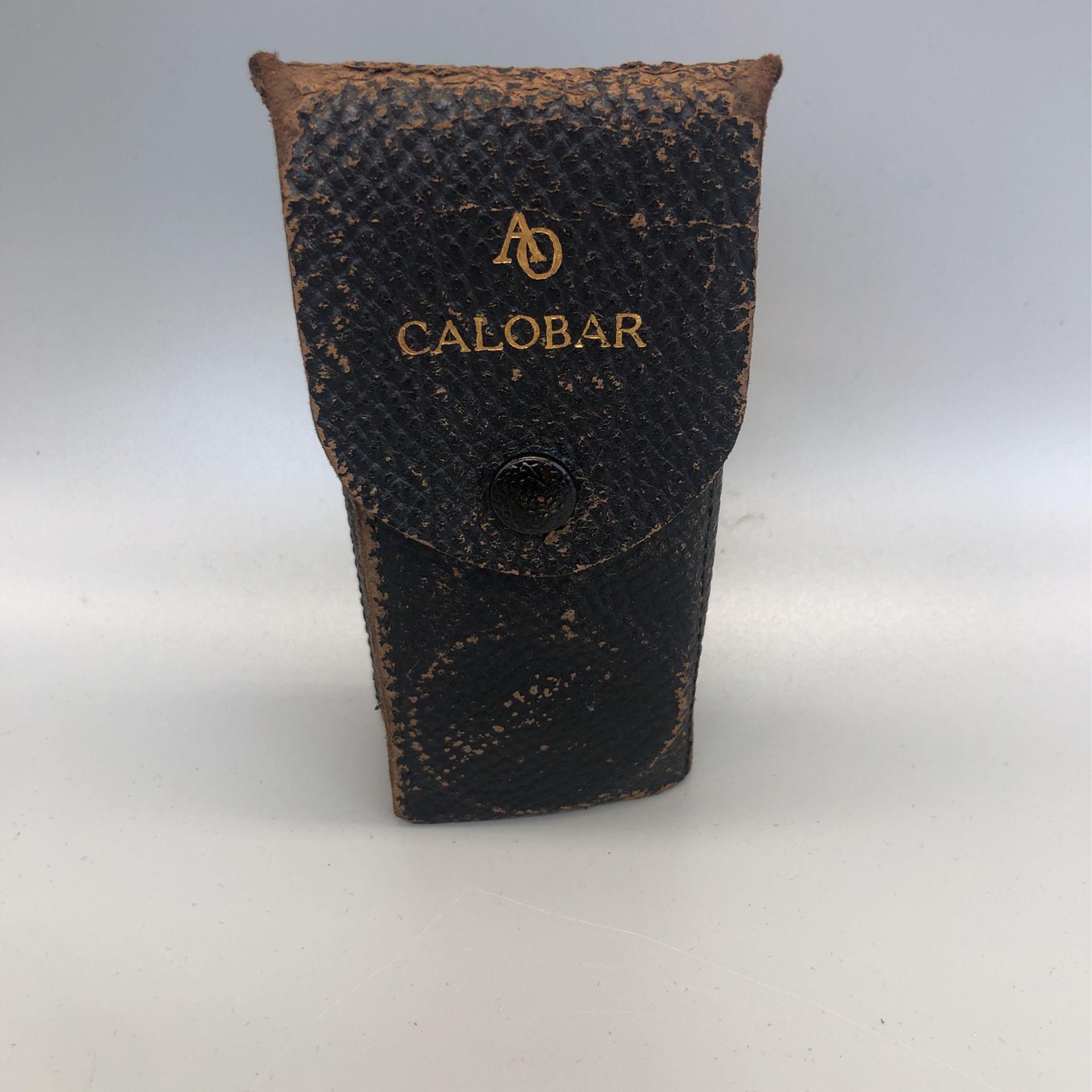 Vintage AO American Optical Calobar green lens with case