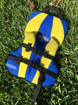 O'Neill Infant Baby Life Vest Under 30lbs Blue Pacific Yellow-USCG for Sale in Orlando, FL