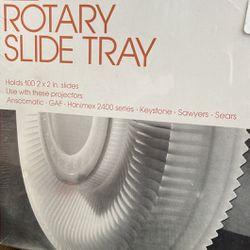 Vintage *NEW*ROTARY SLIDE TRAY-Holds 100 (2x2) Slides Thumbnail