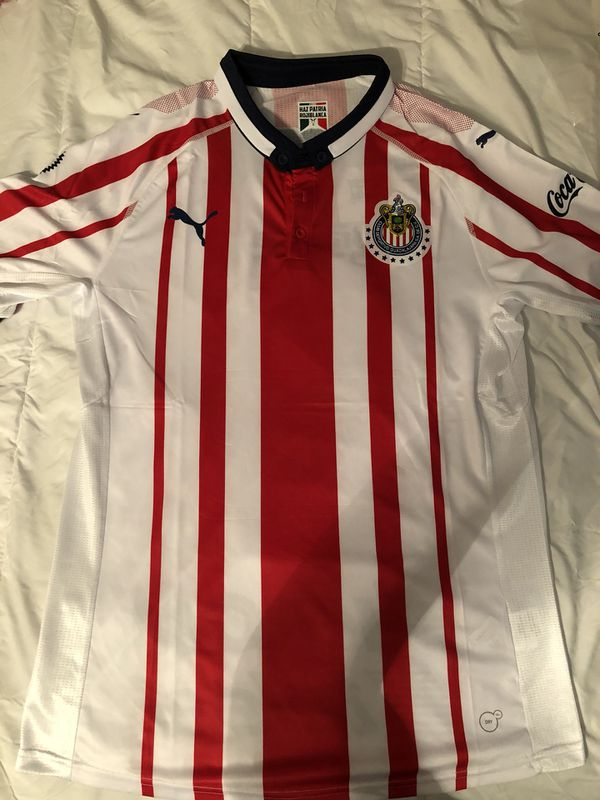 d33a69e7e9a 2018 2019 Chivas De Guadalajara Official Puma Soccer Jersey Home Version