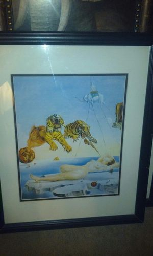 Dream Caused by the Flight of a Bee a Second Before Awakening Art Print by Salvador Dalí for Sale in Kissimmee, FL