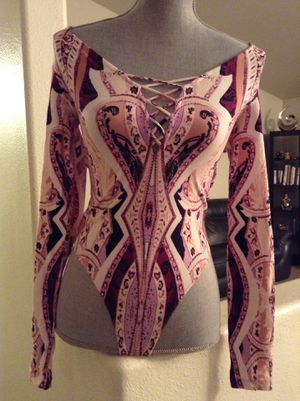 FREE PEOPLE Women's sexy body suit long sleeve shirt top pink XS! for Sale in Vancouver, WA