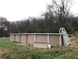 35 x 17 swimming pool pump ladder all included for Sale in Clarksburg, MD