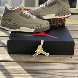 """BRAND NEW AIR JORDAN 3 """"COOL GREY"""" FOR SALE!!! GS SIZE 7 $170 Thumbnail"""