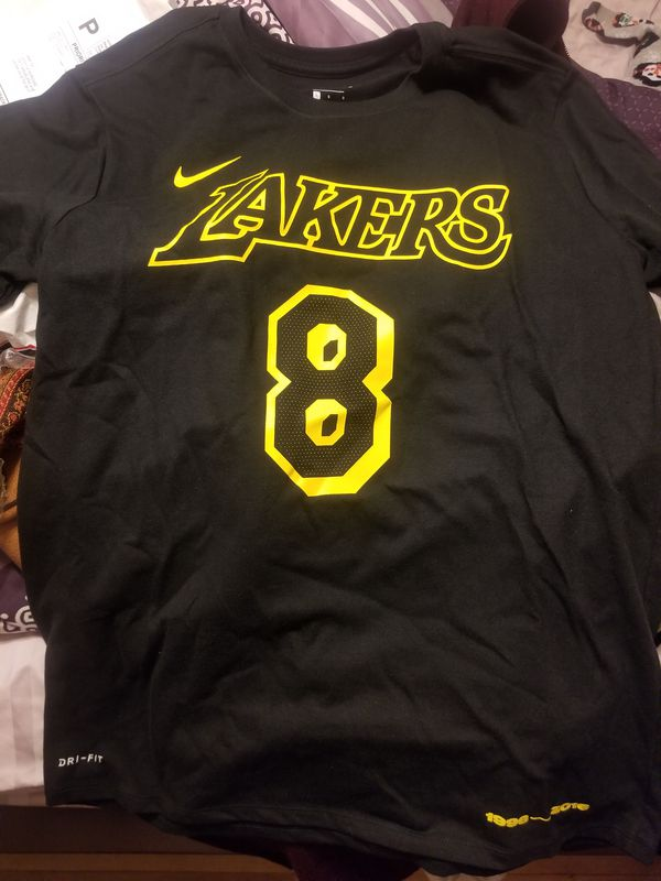 a52d88b96 Nike Los Angeles Lakers Kobe Bryant  8    24 Retirement Dri-FIT Black T- Shirt for Sale in Azusa