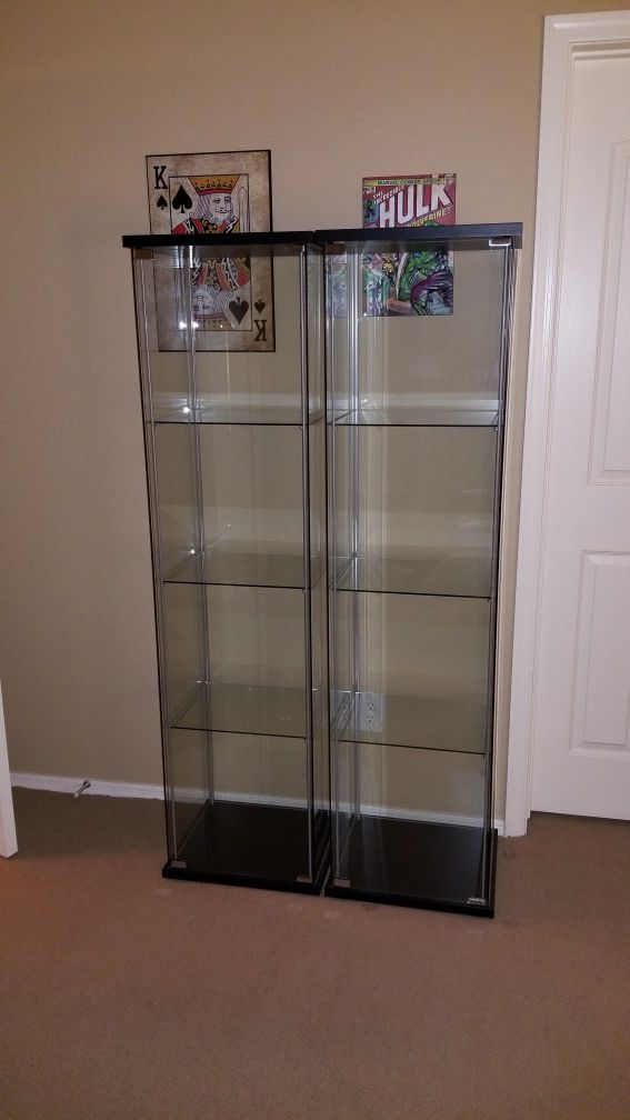 Ikea Detolf Gl Display Cabinet
