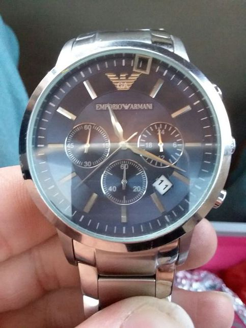 Emporio Armani Solid Stainless Steel  Atm