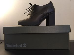 Timberland Brand new brown leather dress shoe with box-size 6.5 for Sale in Chicago, IL