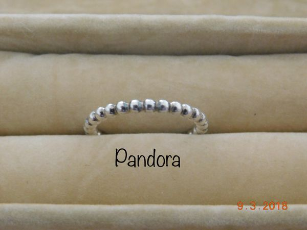 903760501 New Pandora Eternal Clouds Sterling Silver Bubble Stacking Ring size ...