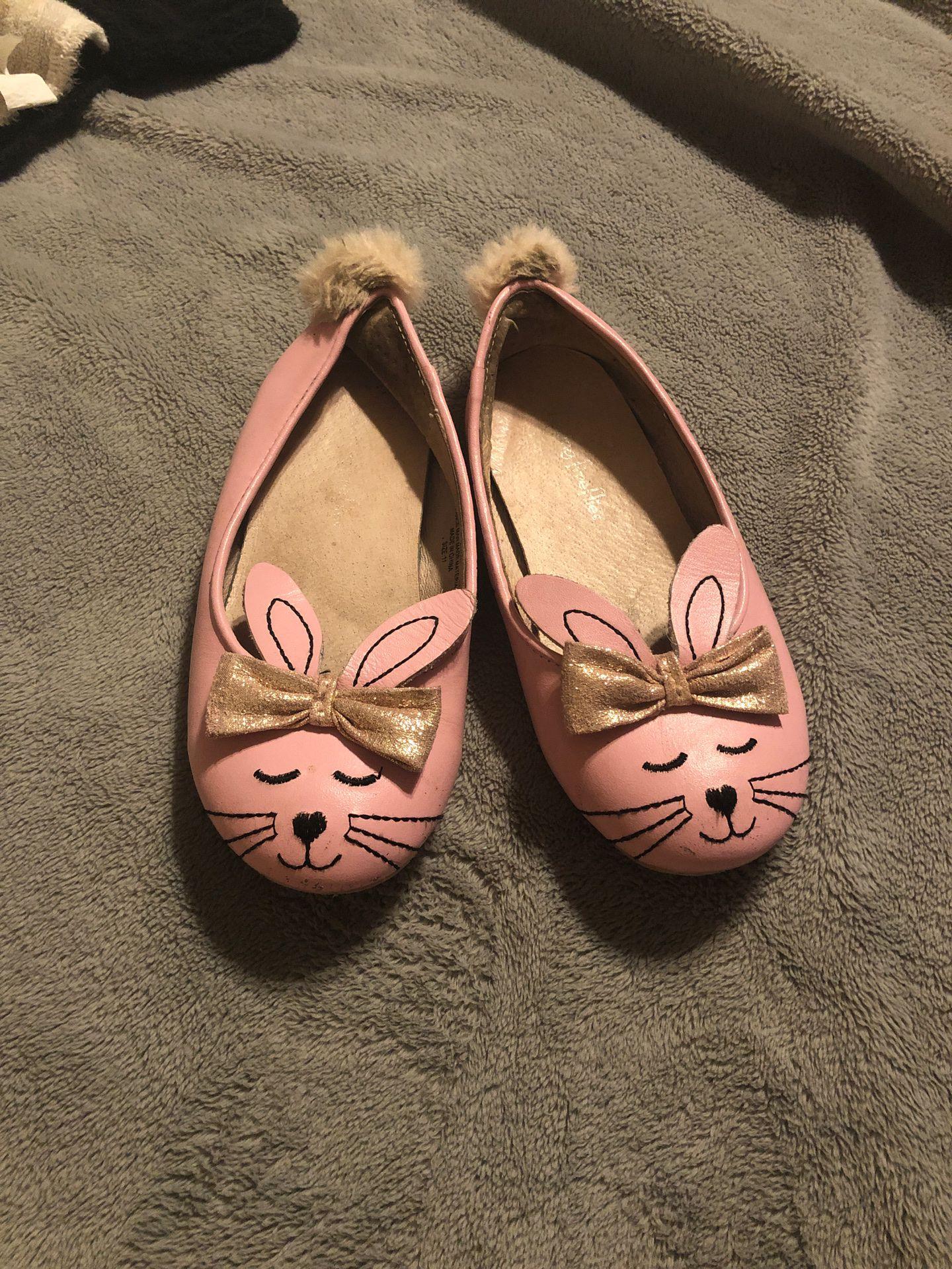 Chasing Fireflies pink bunny ballet flats