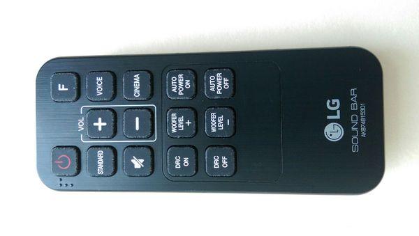 Remote for LG Sound Bar AKB74815301 for Sale in Fort Lauderdale, FL -  OfferUp