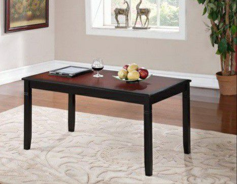 Camden Coffee Table, Black Cherry Finish, 18 inch Height