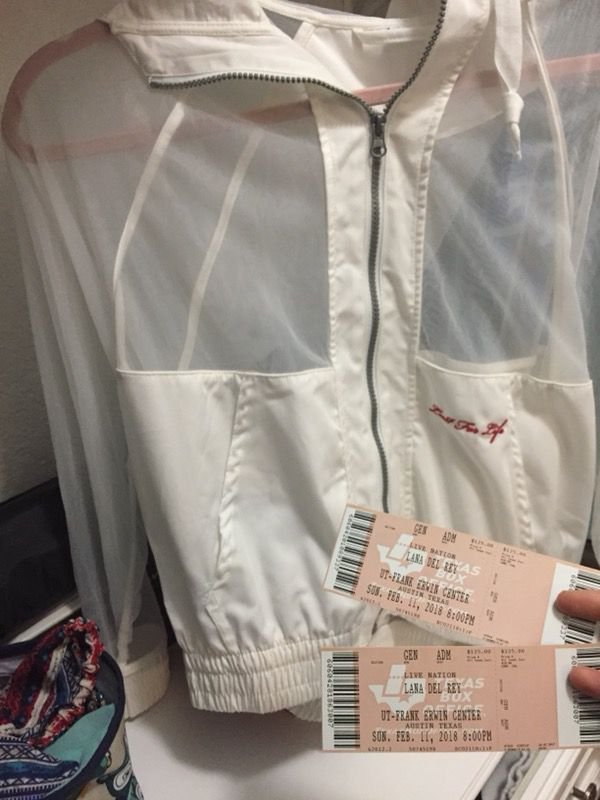 2 Lana Del Rey Floor Tickets Windbreaker For Sale In Helotes Tx Offerup