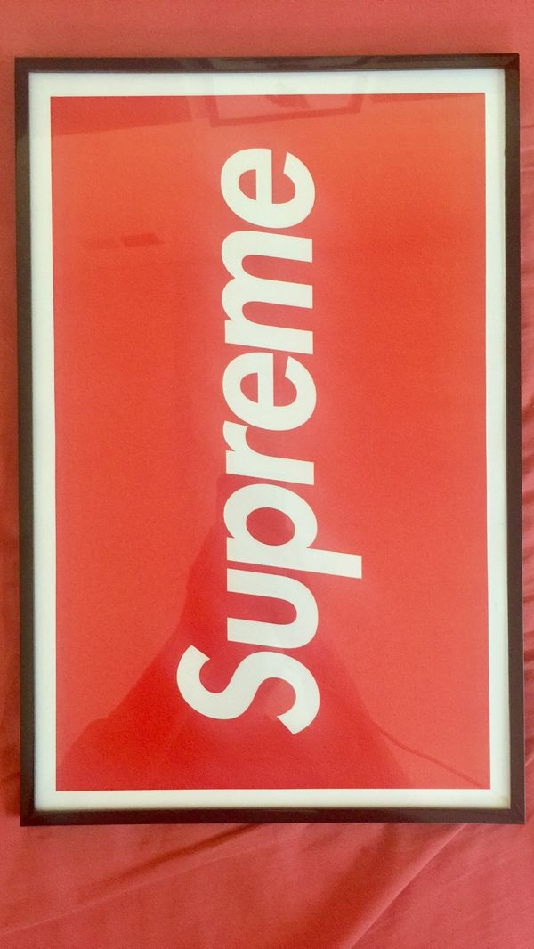 7db0d709e2b4 Red box supreme logo print and poster in 11x17 inch glass frame for Sale in  La Puente, CA - OfferUp