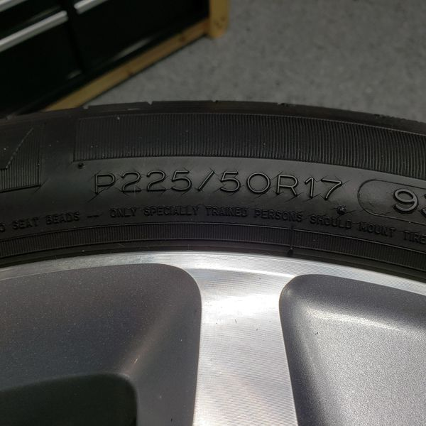"17"" Wheels And Tires Off A 2013 Acura Sport Wagon For Sale"