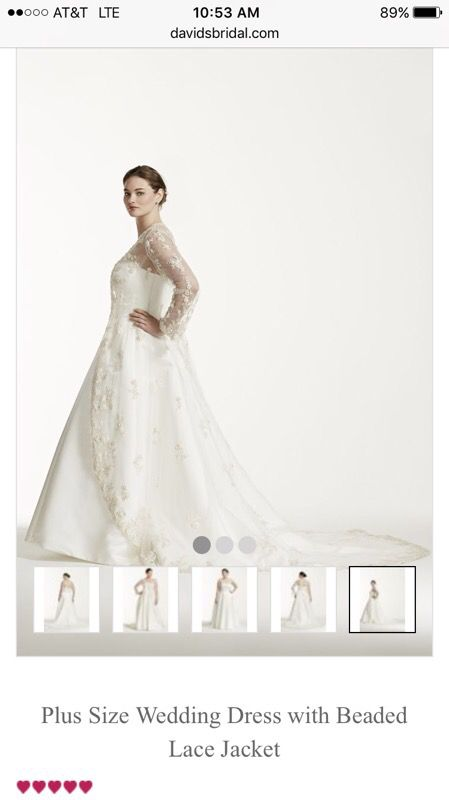 Plus Size Wedding Dress with Beaded Lace Jacket for Sale in Port ...