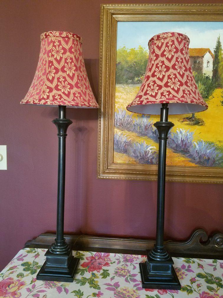 2 buffet lamps
