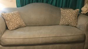 Custom made design / one-of-a-kind/ Light blue - microfiber queen size / sofa bed for Sale in Hialeah, FL