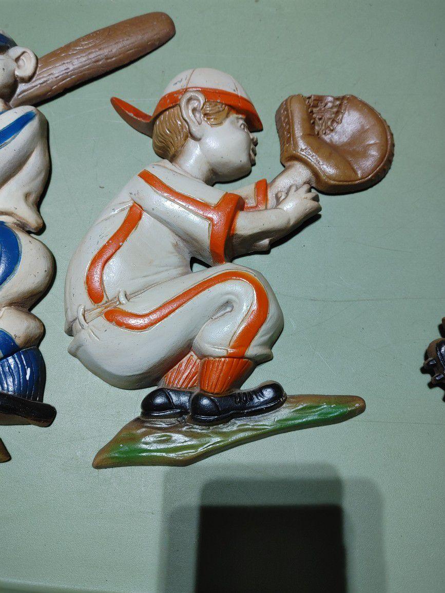 collectible metal baseball figures