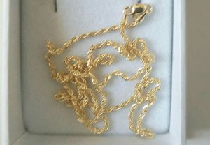 Authentic 14k yellow gold Rope Necklace chain for men & women. for Sale in Kissimmee, FL