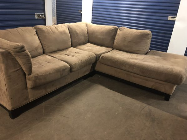 Tremendous Honey Brown Microfiber Sectional Couch Can Deliver For Caraccident5 Cool Chair Designs And Ideas Caraccident5Info