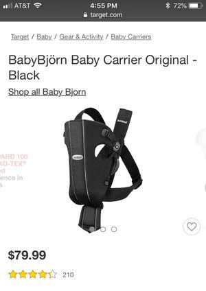 BabyBjörn Baby Carrier Original for Sale in Gaithersburg, MD