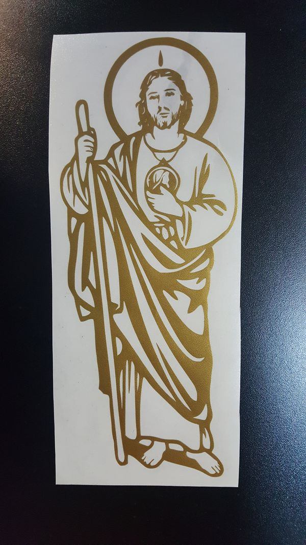 San Judas Tadeo Gold Sticker Decal For Sale In Inglewood Ca Offerup