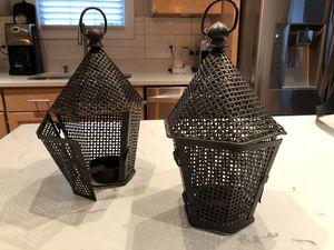 Pair of Mesh Metal Lanterns for Sale in Arlington, VA