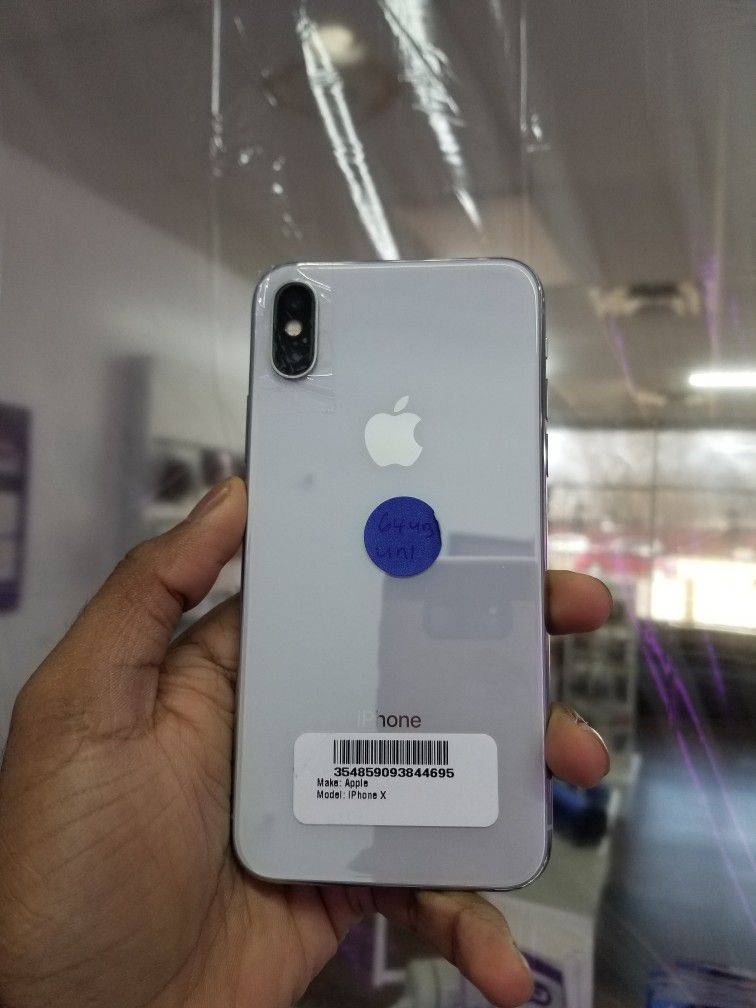 iPhone X 64GB Factory Unlocked Excellent Condition With Free Charger And 30days Warranty