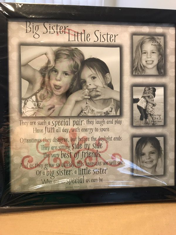NEW big sister little sister frame- add your pics. Wrapped and in ...