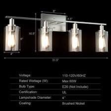 4-Light Wall Sconce With Clear Glass Shade