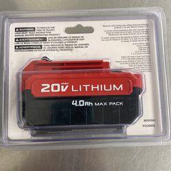 Porter Cable 20v 4.0ah Max Pack Battery  Thumbnail