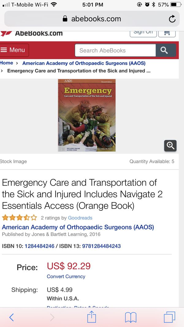 Aaos emergency care and transportation 10th edition best transport emergency care and transportation of the sick injured 11th fandeluxe Choice Image