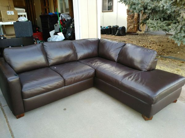 Italsofa 2 Pc Leather Sectional For In Greenwood Village Co Offerup