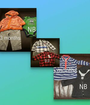 Photo Baby boy clothes size 0-6 months