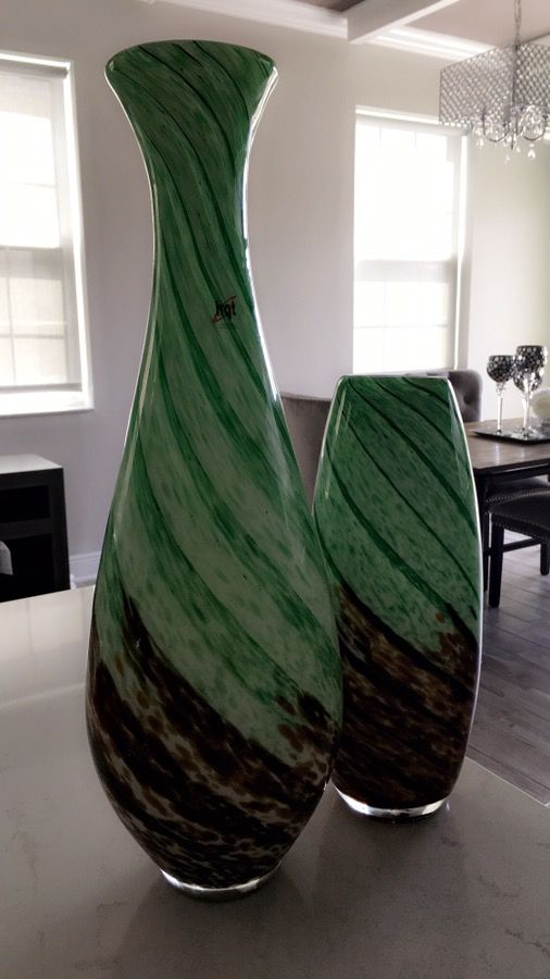 2 Decorative Green,brown and black HQT Handmade Home Designs Art ...