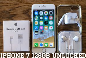 Iphone 7 (4.7') UNLOCKED 128GB + Accessories for Sale in Arlington, VA