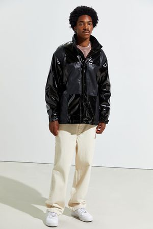 Photo Faux Leather Jacket Urban Outfitters S - M