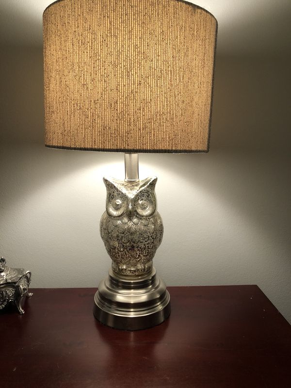 Pair Of Owl Lamps Ersburg In